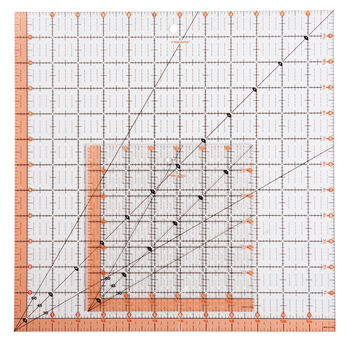 "Fiskars® Square Acrylic Ruler Set (12.5"" x 12.5"" and 6.6"" x 6.6"")"
