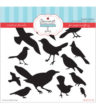 Gourmet Rubber Stamps Birds Stencil