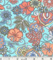 Keepsake Calico Fabric - Floral Outline, , hi-res