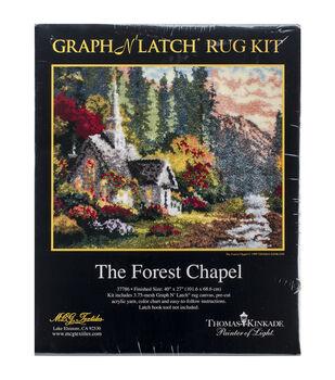 """Latch Hook Kit 40""""X27""""-Forest Chapel"""