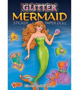 Dover Publications-Glitter Mermaid Sticker Paper Doll Book