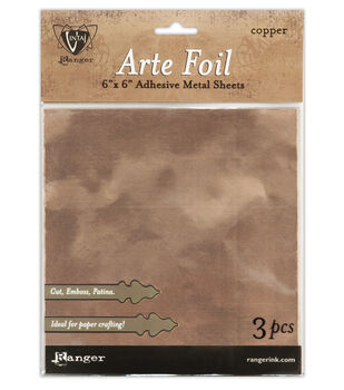 "Ranger Vintaj Copper Foil Sheets 3/Pkg-6""X6"""