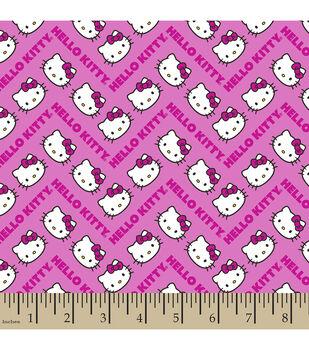 Sanrio Hello Kitty Chevron Cotton Fabric