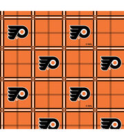 Philadelphia Flyers  NHL Plaid Flannel Fabric, , hi-res