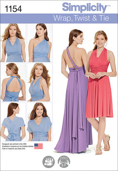 Simplicity Pattern 1154A Xxs-Xs-S-M-Special Occasion