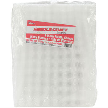 "Plastic Canvas 7 Count 10-1/2""X13-1/2"" Value Pack-Clear 12/Pkg"