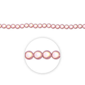 "Blue Moon Beads Strand 7"" Plastic Round Miracle Beads, Pink"