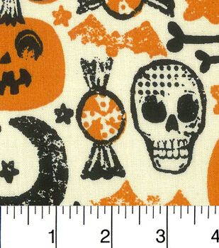 Halloween Cotton Fabric-Halloween Retro