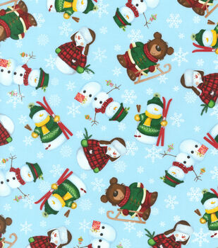 Maker's Holiday Print Fabric 57''-Forest Christmas