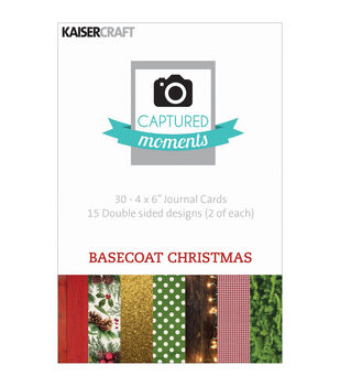 "Captured Moments Double-Sided Cards 6""X4"" 30/Pkg-Basecoat Christmas"