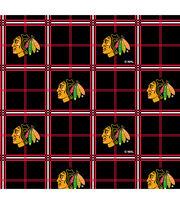 Chicago Blackhawks NHL Plaid Flannel Fabric, , hi-res
