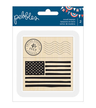 Pebbles Americana stamps American Flag & 4th Of July Postage