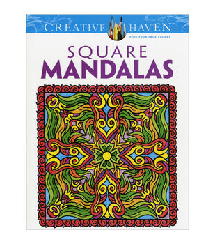 Dover Creative Haven Square Mandalas Coloring Book