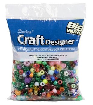 Big Value Ponybeads-Assorted Sizes