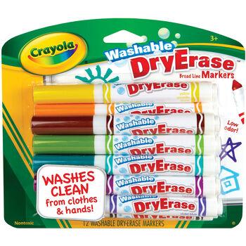 Crayola Washable Dry Erase Markers 12/Pkg-