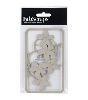 FabScraps 5''x3'' Die-Cut Chipboard Embellishments-Flower Filigree Layer