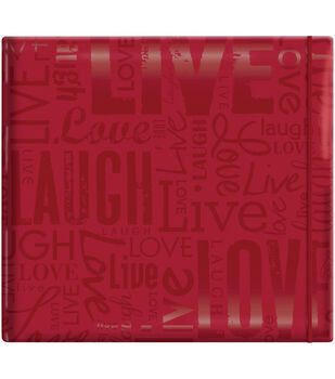 "MBI Gloss Scrapbook 12""X12""-Live Love Laugh-Red"