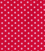 Keepsake Calico™ Cotton Fabric-Rose In Bloom Dot On Red, , hi-res