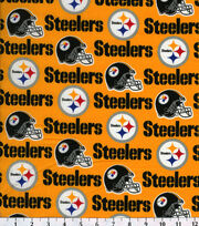 Pittsburgh Steelers NFL Gold Cotton Fabric by Fabric Traditions, , hi-res