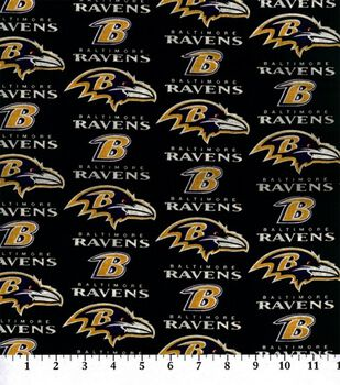 Baltimore Ravens NFL Cotton Fabric by Fabric Traditions