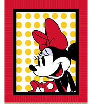 Disney® Minnie With Dots No Sew Throw, , hi-res