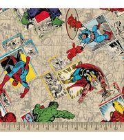 Marvel's The Avengers Print Fabric-Retro Badge Print, , hi-res