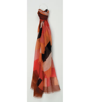 Oxford Street Jewelry Co. Red & Multicolored Scarf