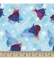Disney Frozen Sisters Skating Satin Fabric, , hi-res