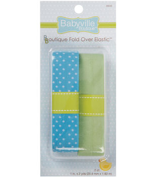 Babyville Boutique 4 Yds Fold Over Elastic Blue Green