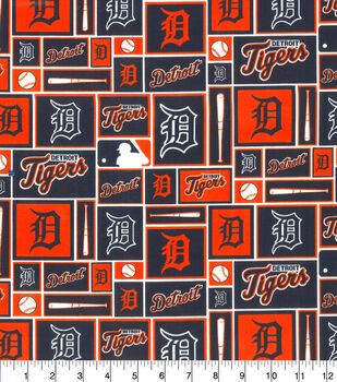 Detroit Tigers MLB Patch Cotton Fabric