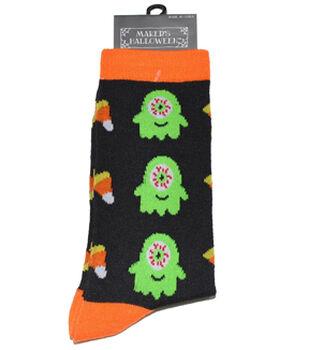 Maker's Halloween Socks-Monster Candy Corn Crew
