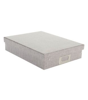 "DCWV Document Box: 8-1/2""x11"" Gray Burlap"