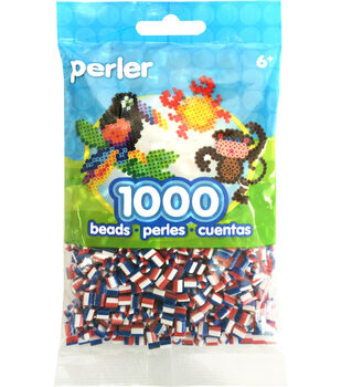 Perler Beads 1,000 Count-Patriotic Stripe