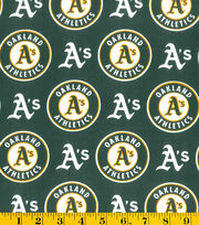 Oakland Athletics MLB Cotton Fabric, , hi-res