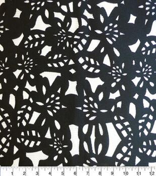 Nicole Miller Fabric-Die Cut Floral Scuba Knit Black