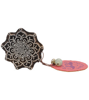 Blockwallah Intricate Flower Block Stamp