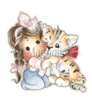 Magnolia Animal Of The Year Tilda With Daisy Mae The Tiger Cling Stamp