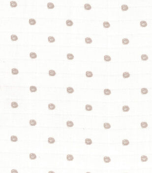 Nursery Fabric- Gray Dots Swaddle Cloth