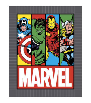Giftable No Sew Throw-Marvel Comics