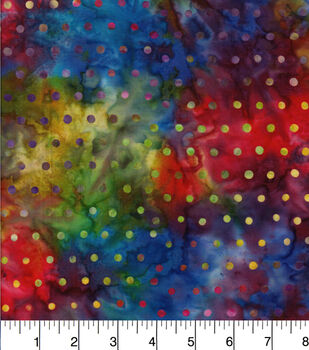 Batik Cotton Fabric - Dot Rainbow