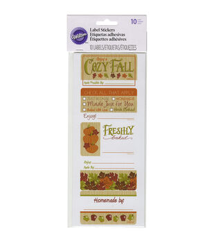 Wilton® Sticker Labels 10/Pkg-Cozy Fall
