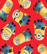 Minions Toss Red Fleece Fabric, , hi-res
