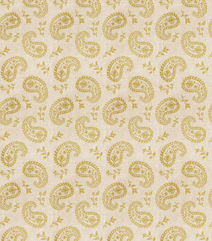 Eaton Square Print Fabric-Writing/Citrus
