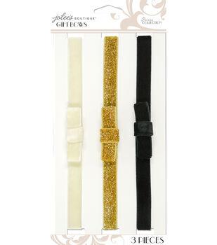 Jolee's Boutique Parisian Neutral Elastic Gift Bows