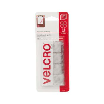 "VELCRO® Brand Sticky Back Squares 7/8"" 12/Pkg-Clear"