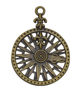 Brass embellishments 25/Pkg-Compass