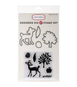 Carta Bella Die & Stamp Combo Set-Grateful