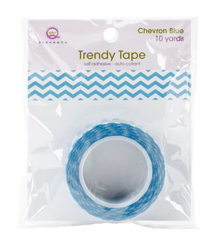 Trendy Tape Core Collection 15mmX10yd-Chevron Blue
