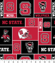 North Carolina State University NCAA  Fleece Fabric, , hi-res