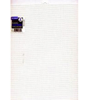 "Plastic Canvas 7 Count 10""X13""-White"